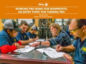 Working Pro Bono for Non-Profits: An Entry Point for Turning Pro - Free Quick Guide